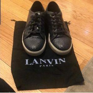 🆕️ Lanvin Matte Blue Leather Sneakers 9UK 10US